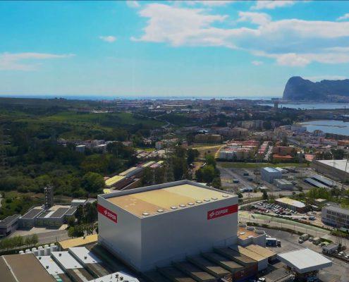 Imagen aérea del vídeo corporativo Cepsa